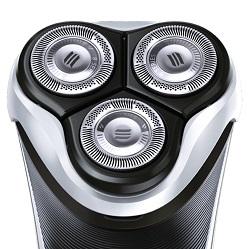 Scherkopfsystem des Philips PT860 Herrenrasierers.